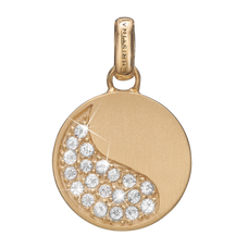 Load image into Gallery viewer, Moon Shine Pendant Gold with Gemstones
