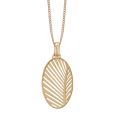 Load image into Gallery viewer, Celebrate your unique awesomeness and positive energy with this beautifully designed Pendant in the shape of a Palm Leaf that across eons and cultures has symbolised victory with integrity a meaning reinforced when we look skyward to see the leaves catch the wind.  For that special touch and to make our Pendant Collection even more special, all the Pendants in our collection are delicately and expertly handcrafted in 925 Sterling Silver and finished in either 18ct Gold or Rhodium Plating.