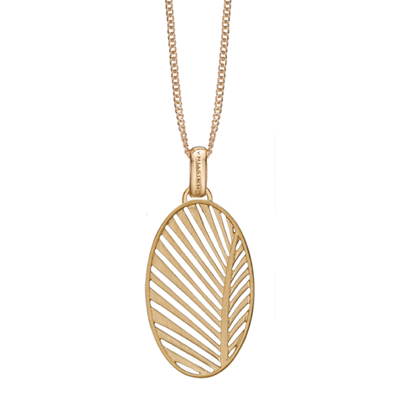 Celebrate your unique awesomeness and positive energy with this beautifully designed Pendant in the shape of a Palm Leaf that across eons and cultures has symbolised victory with integrity a meaning reinforced when we look skyward to see the leaves catch the wind.  For that special touch and to make our Pendant Collection even more special, all the Pendants in our collection are delicately and expertly handcrafted in 925 Sterling Silver and finished in either 18ct Gold or Rhodium Plating.
