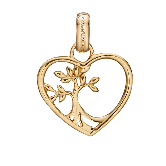 The Christina Jewelry's Tree Root Pendant is beautifully designed to subtly celebrate the starting point of Love & Life itself. For that special touch and to make your Pendent a bit more special all the Pendent in our collection are delicately and expertly handcrafted in 925 Sterling Silver and finished in 18ct Gold  Plating.