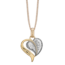 Load image into Gallery viewer, The Leaf of Love is reminder of the beauty of love in everyday life, a life that is laced with creative ideas that inspire a compassionate caring and tender Love.  Something that can be celebrated whenever you put on your Leaf of Love Pendent delicately handcrafted in Sterling Silver and finished Gold & Silver.