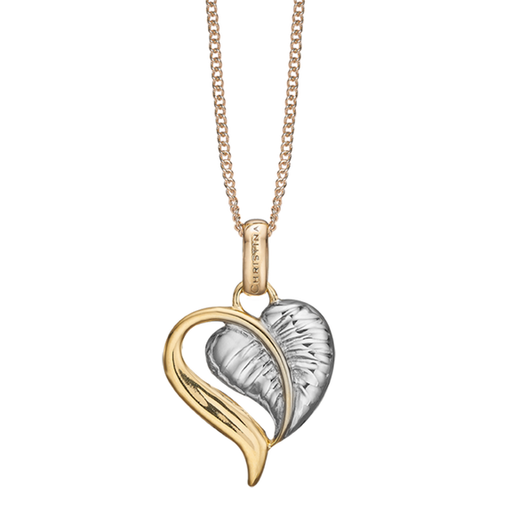 The Leaf of Love is reminder of the beauty of love in everyday life, a life that is laced with creative ideas that inspire a compassionate caring and tender Love.  Something that can be celebrated whenever you put on your Leaf of Love Pendent delicately handcrafted in Sterling Silver and finished Gold & Silver.