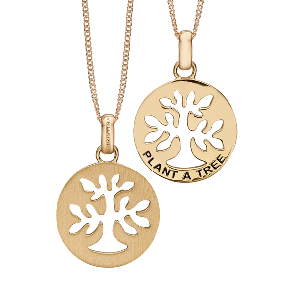 In mythologies, legends and novels Trees represent life and growth while at the same time trees are also considered representative of wisdom, power and prosperity. In a nutshell, Trees represent what is good about the natural world around us.  This  Plant a Tree Pendant has been designed to incorporate all these noble sentiments and goodness. All the Pendants in our collection are delicately and expertly handcrafted in 925 Sterling Silver and finished in either 18ct Gold or Rhodium Plating.