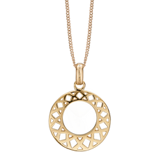 Load image into Gallery viewer, The Christina Jewelry's Happiness Pendant is beautifully designed to subtly convey the feeling of Happiness with Loving Kisses bound by two everlasting circles.  For that special touch and to make our Pendant Collection even more special, all the Pendants in our collection are delicately and expertly handcrafted in 925 Sterling Silver and finished in either 18ct Gold or Rhodium Plating.