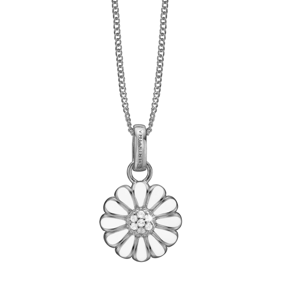 Marguerite Necklace Silver with Gemstones
