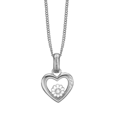 Load image into Gallery viewer, Marguerite Love Necklace Silver with Gemstones