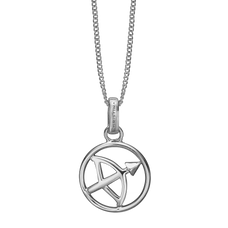 Load image into Gallery viewer, Zodiac Sagittarius Necklace Silver