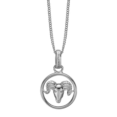 Load image into Gallery viewer, Zodiac Aries Necklace Silver