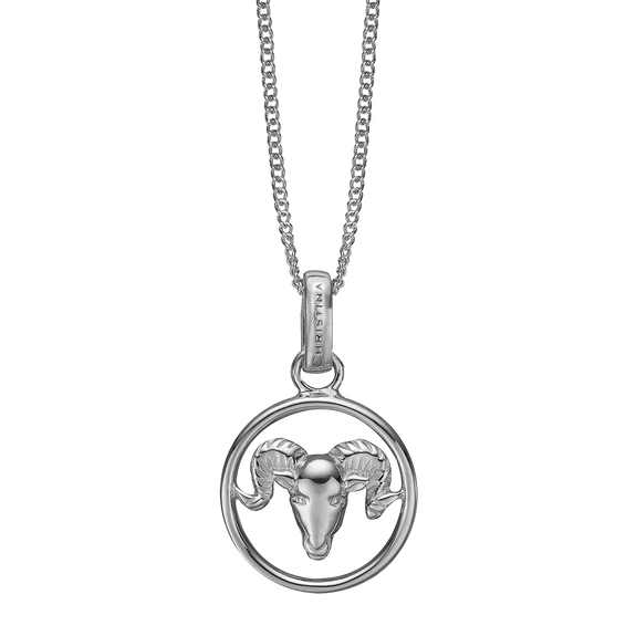 Zodiac Aries Necklace Silver