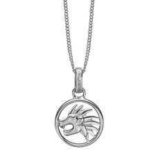 Load image into Gallery viewer, Zodiac Leo Necklace Silver
