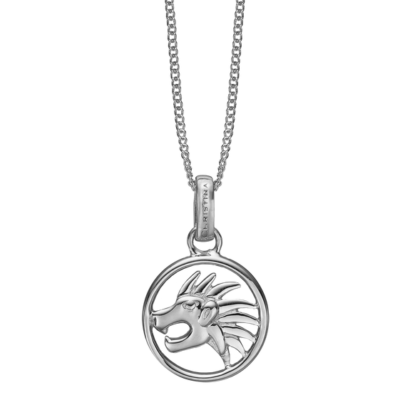 Zodiac Leo Necklace Silver