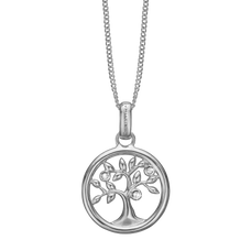 Load image into Gallery viewer, Tree of Life Necklace Silver with Gemstones