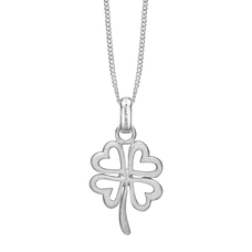 Load image into Gallery viewer, Foursome Luck Necklace Silver