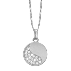 Load image into Gallery viewer, Moon Shine Necklace Silver with Gemstones
