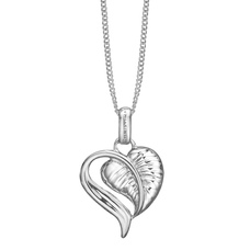 Load image into Gallery viewer, The Leaf of Love is reminder of the beauty of love in everyday life, a life that is laced with creative ideas that inspire a compassionate caring and tender Love.  Something that can be celebrated whenever you put on your Leaf of Love Pendent delicately handcrafted in Rhodium Plated Sterling Silver