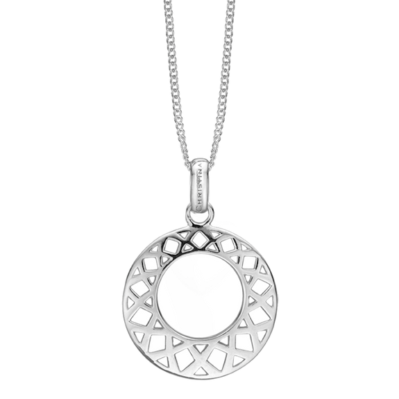 The Christina Jewelry's Happiness Pendant is beautifully designed to subtly convey the feeling of Happiness with Loving Kisses bound by two everlasting circles.  For that special touch and to make our Pendant Collection even more special, all the Pendants in our collection are delicately and expertly handcrafted in 925 Sterling Silver and finished in either 18ct Gold or Rhodium Plating.