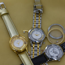 Load image into Gallery viewer, Precious Love, Collect Watch with Gold plated Steel bracelet