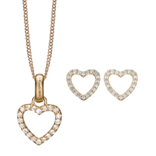 Load image into Gallery viewer, Mother's Sparkling Heart Gift Set - Gold