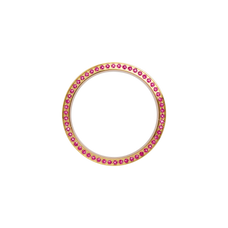 Load image into Gallery viewer, Gold, Serene Bezel, Bezel with Saphire Glass and Pink Gemstones