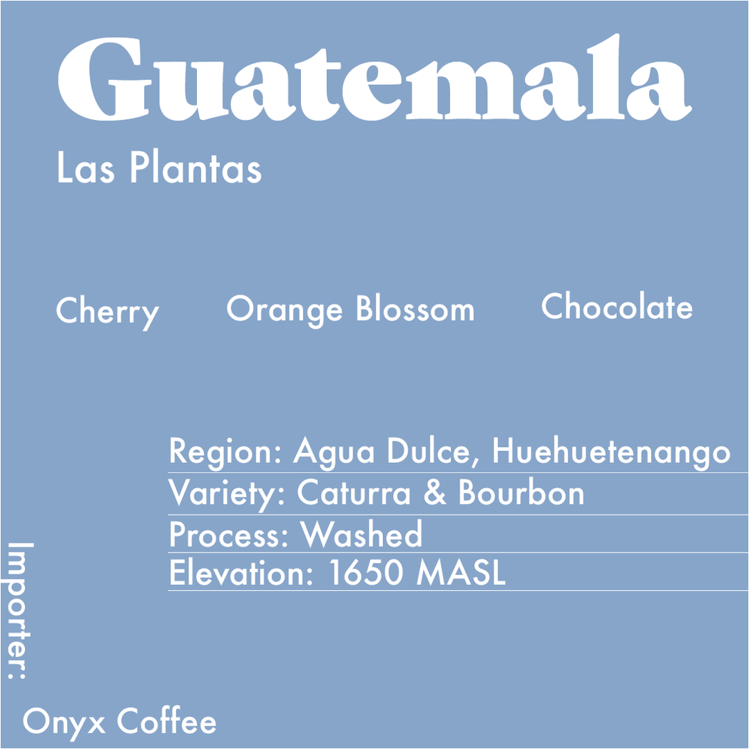 Info card for the Guatemala Las Plantas