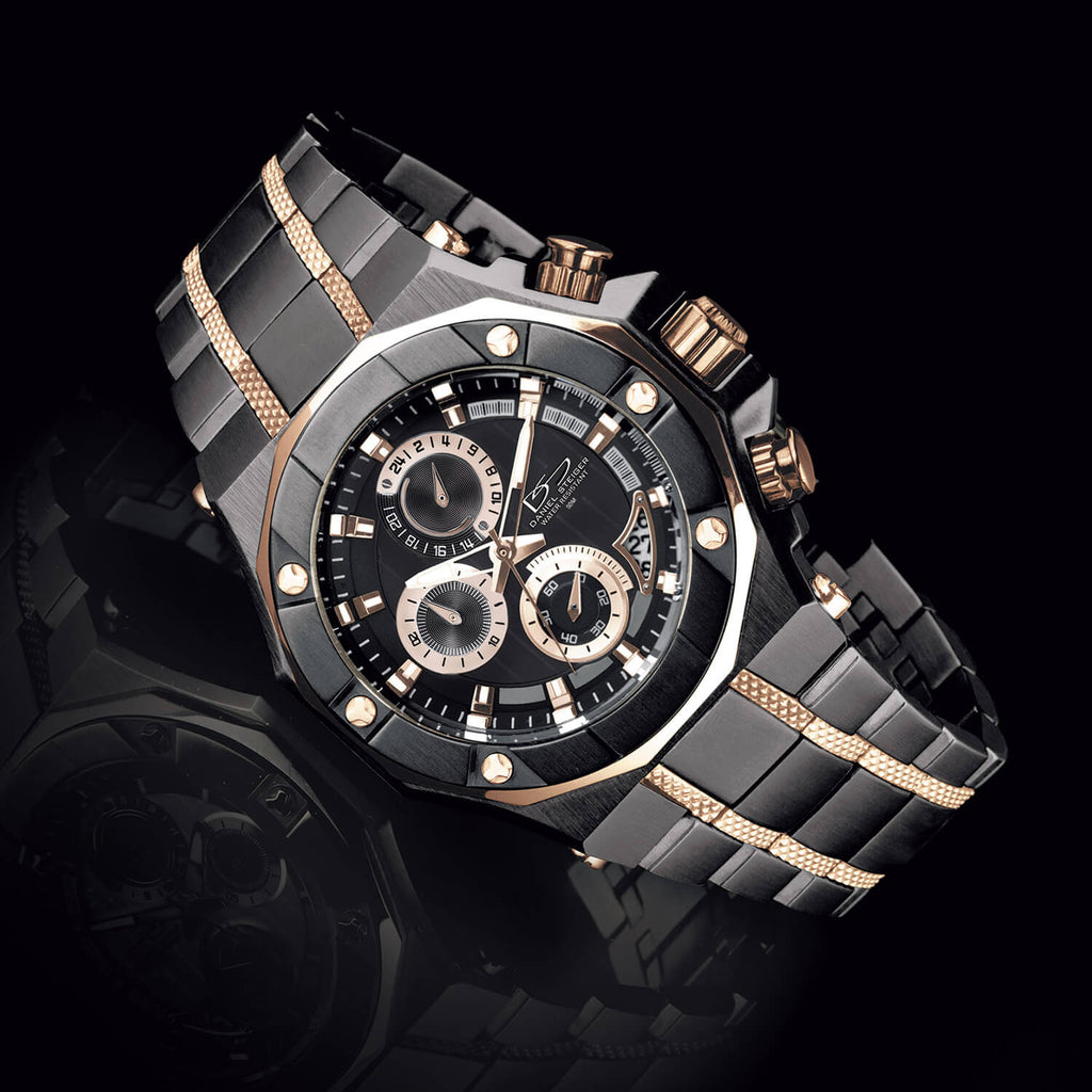 Phantom Rose Gold & Black Watch