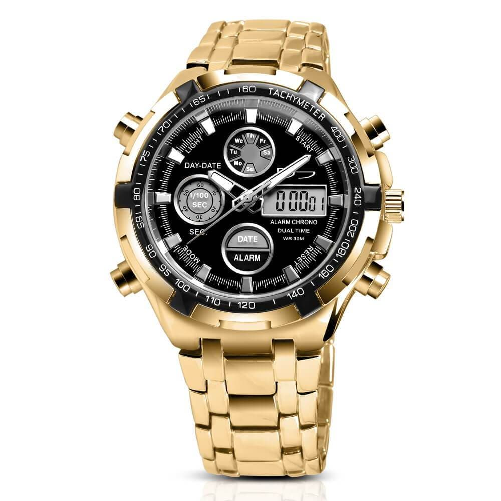 Daniel Steiger Fusion Hybrid Analog Digital Gold Men's Watch