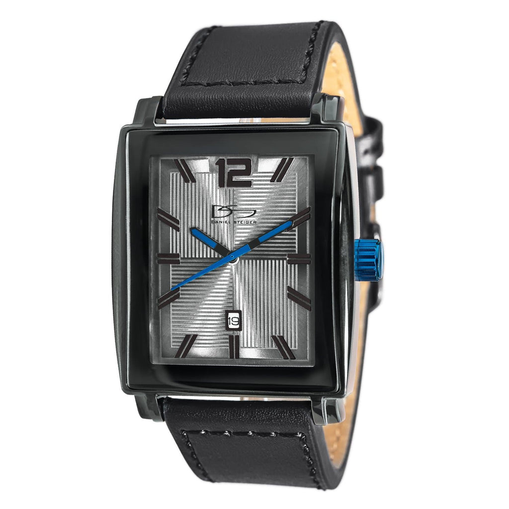 Daniel Steiger Strainless Steel Leather Strap Precision Movement Elektra Blue Watch