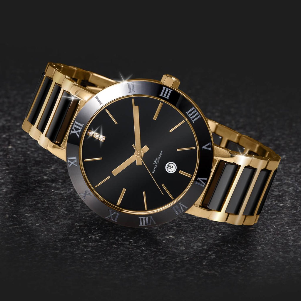 Daniel Steiger Verona Black Ceramic Men's Watch - Catalog Shot