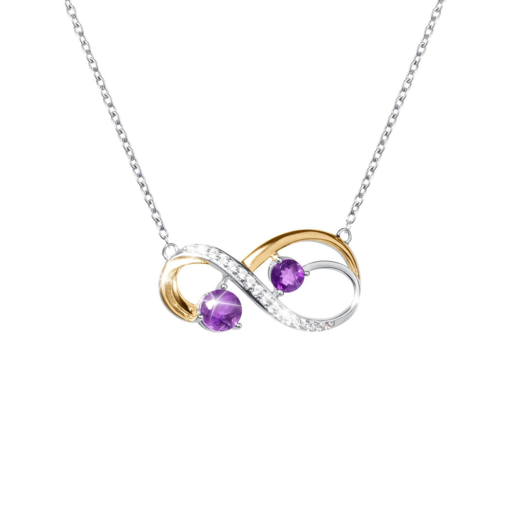 Infinity Amethyst Necklace