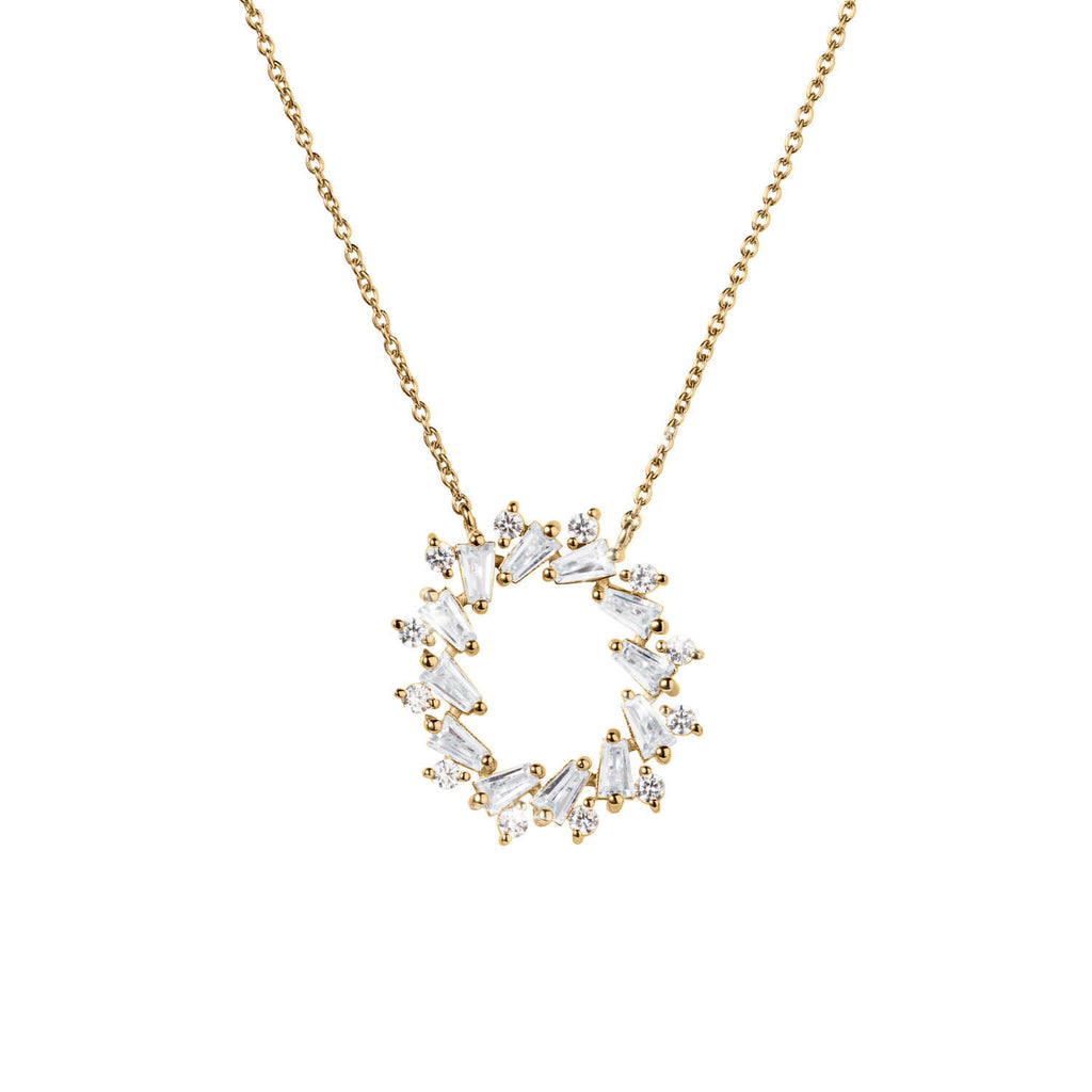 Endless Gems Circle Necklace