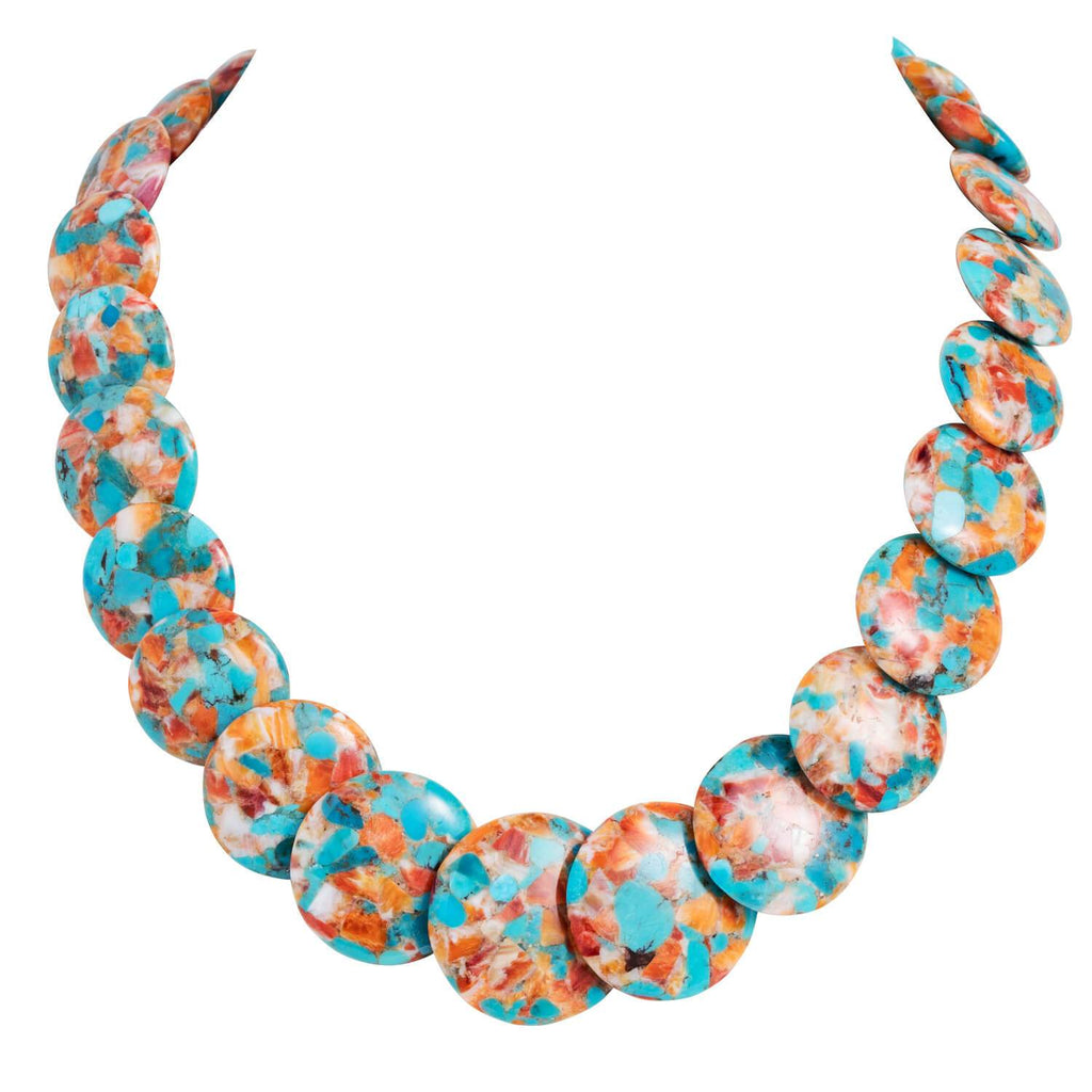 Ocean Splash Turquoise & Shell Necklace