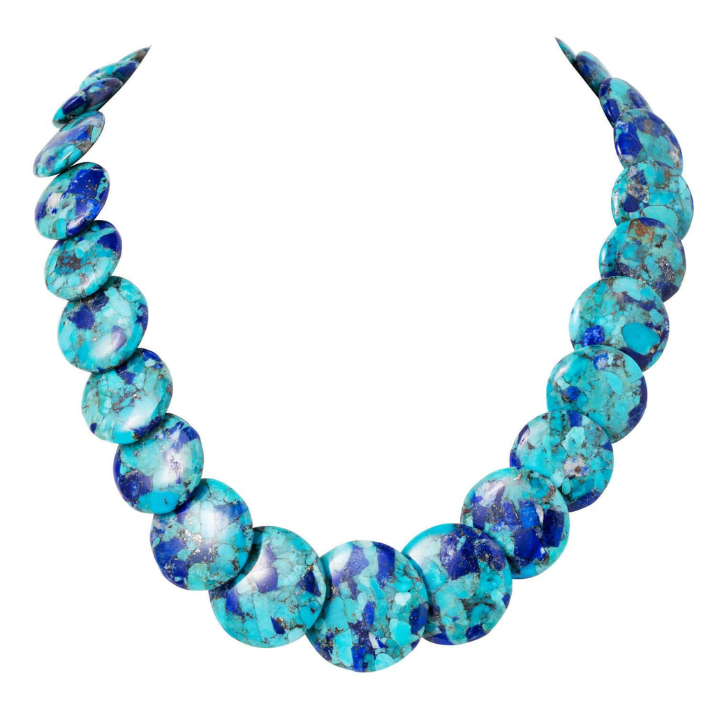 Ocean Splash Turquoise & Lapis Necklace