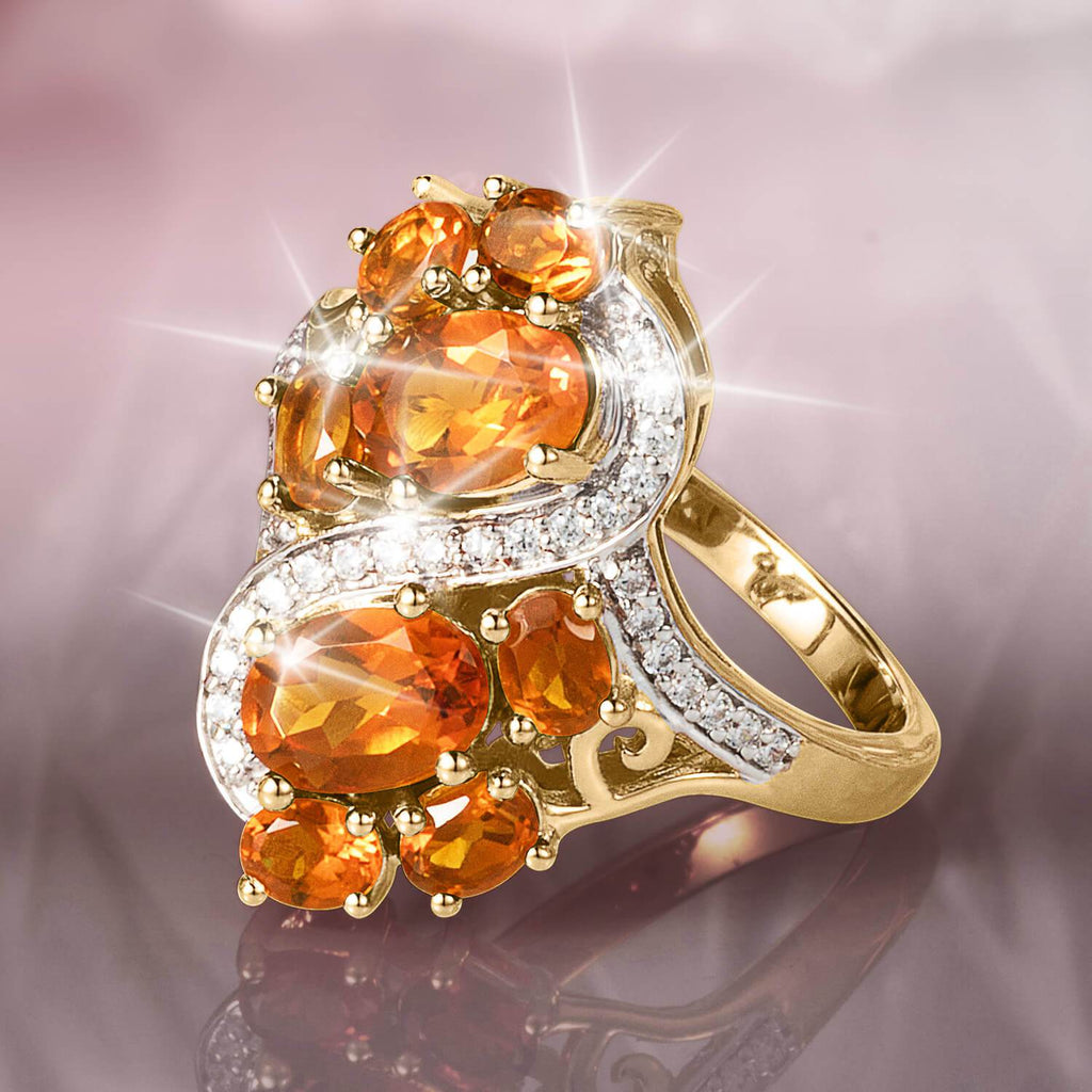 Cocktail Hour Madeira Citrine Ring
