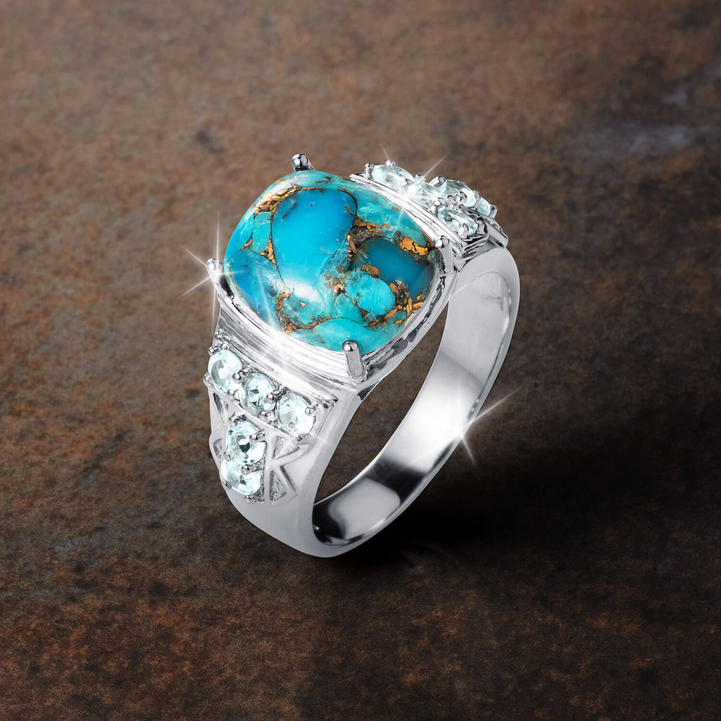 Admiral Turquoise Men's Ring