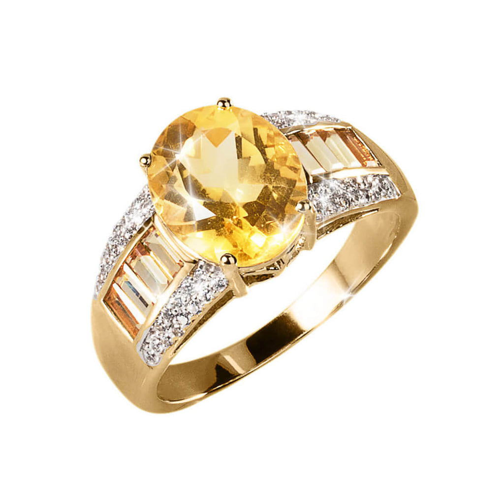 Citrine Men's Ring