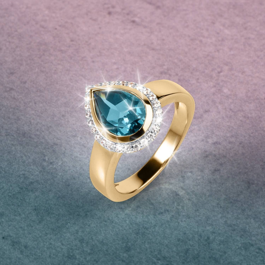 Carnaby London Blue Topaz Ladies Ring