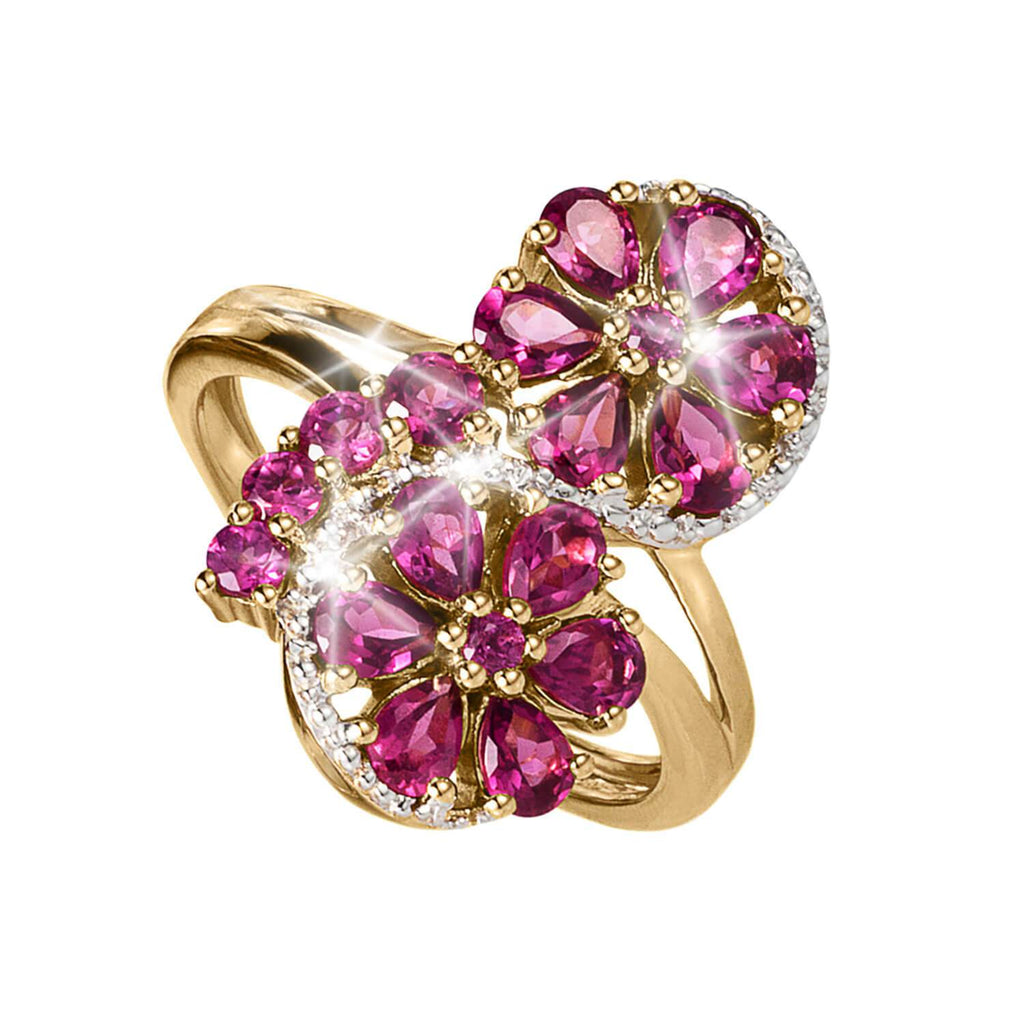 Cocktail Hour Rhodolite Ring