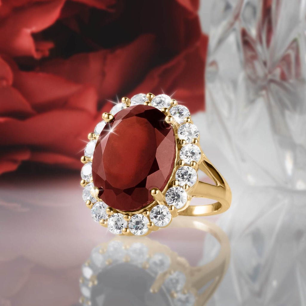 Garnet Glow Ladies Ring