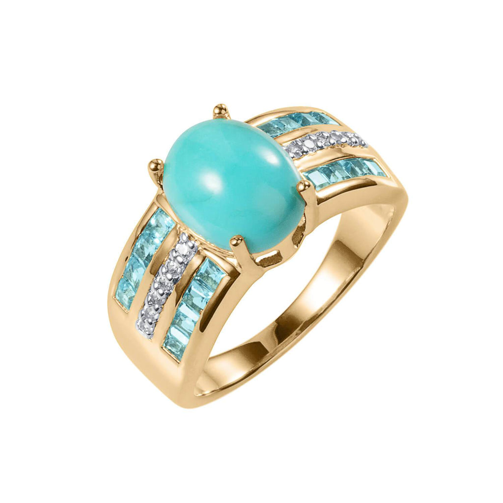 Oasis Turquoise Ladies Ring