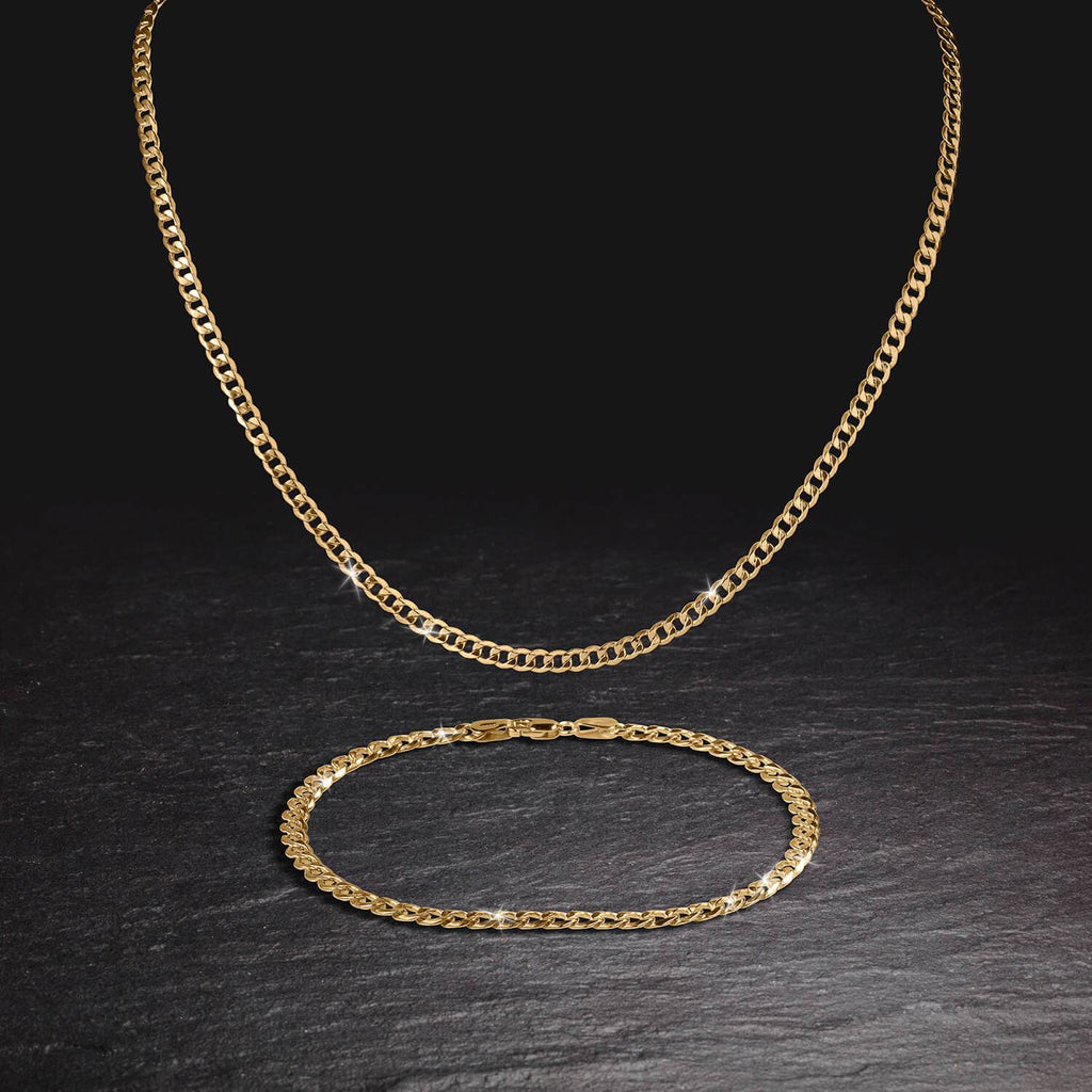 Tesoro Vero Gold Curb Necklace
