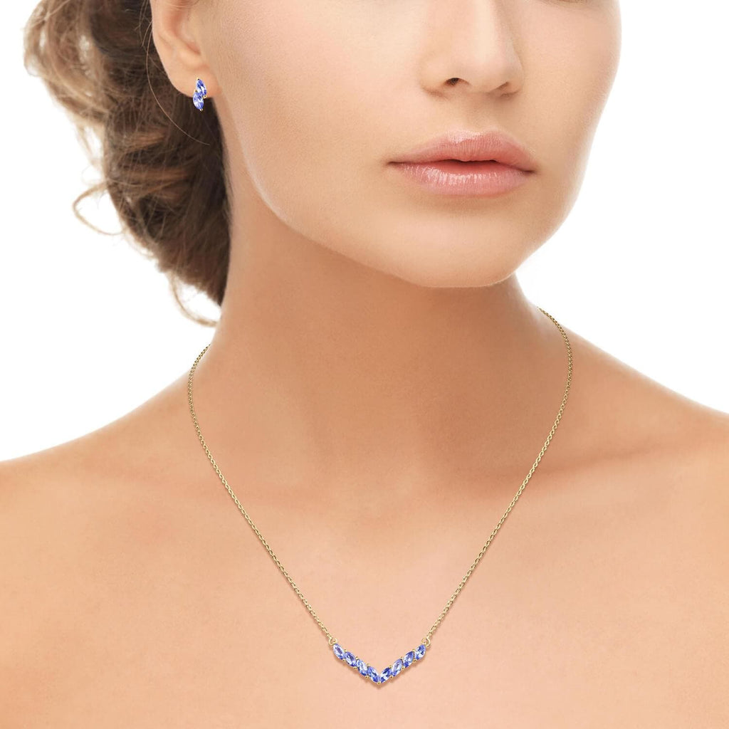 Wishbone Tanzanite Necklace