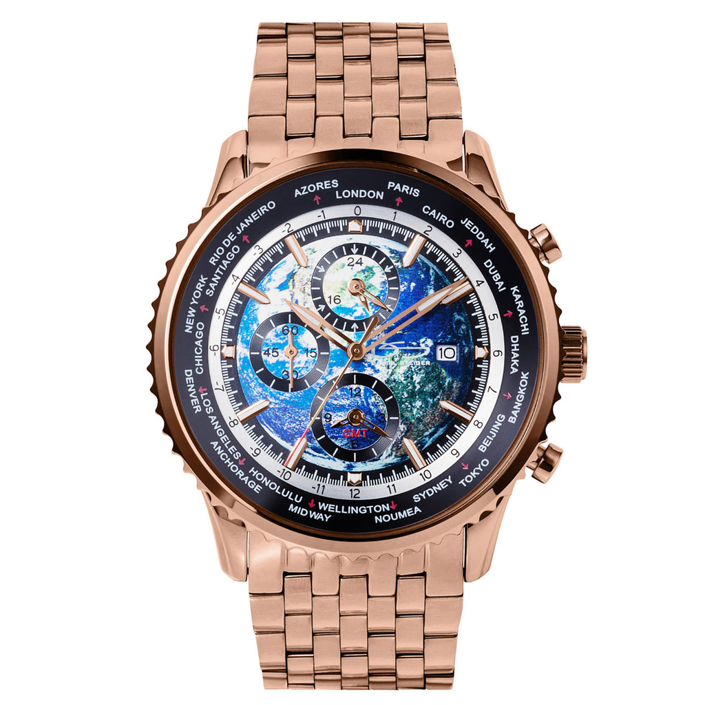 World Time Rose Men's Watch
