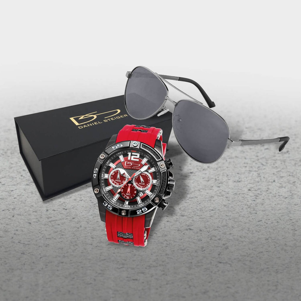 Adventurer Red Men's Watch & Sunglasses