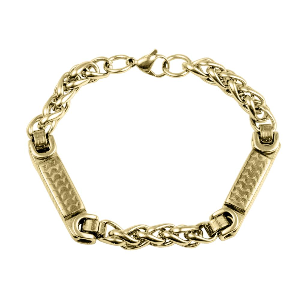 Daniel Steiger 18k Yellow Gold Finished Solid Stainless Steel Arco Bracelet