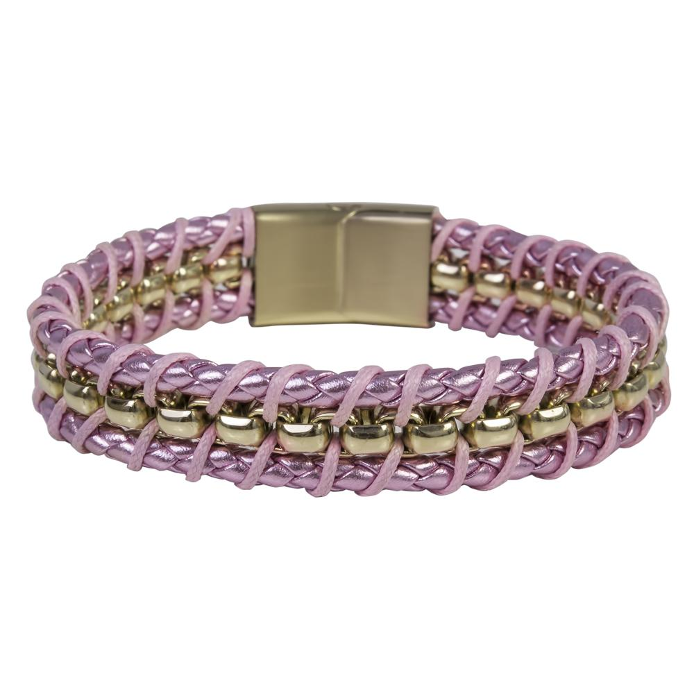 Melrose Pink Leather Bracelet