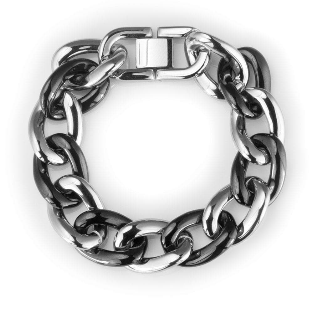 Ceramica Bracelet (Black and Steel)