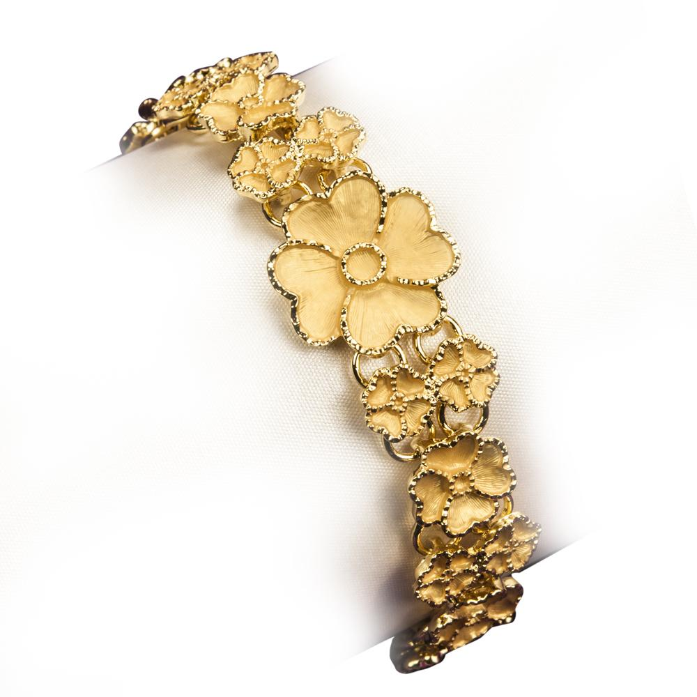 Golden Flower Cascade Bracelet