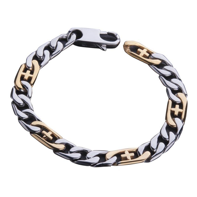 Belmont Two Tone Steel Bracelet