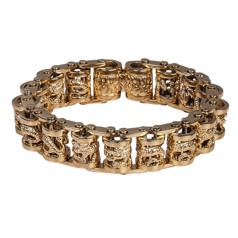 Men's Yellow Gold Scroll Bracelet