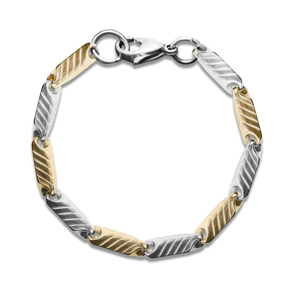 Chevron Steel Bracelet
